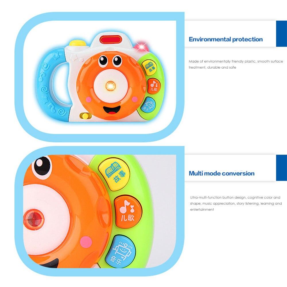 Камера игрушка ребенок обучающая машина история машина электрическая многоцветная светодиодная пластиковая обучающая игрушка хобби Поющая песня классное обучение