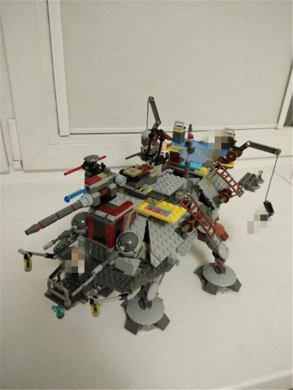 New LEPINS Star Captain Rexs AT- Model TE Building Kit Blocks Bricks Compatible Children Figures Toys Wars Christmas Gift
