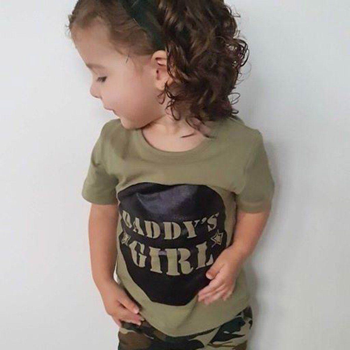 Toddler Kids Chłopcy Dziewczęta Topy Camo T-shirt Spodnie Letnie - Ubrania dziecięce - Zdjęcie 5