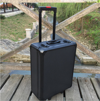 365*465*180mm Aluminum trolley case toolbox tool case Protective Camera Case equipment box with pre cut foam lining