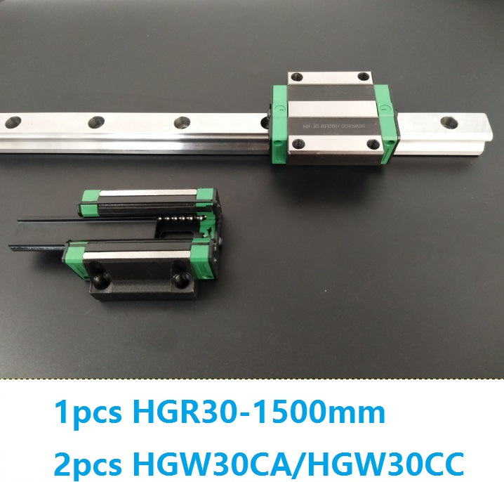 1pcs linear guide rail HGR30 1500mm + 2pcs HGW30CC/HGW30CA linear carriage blocks for CNC router parts Made in China akg6090 made in china high quality desktop mini cnc router 4060 for sale