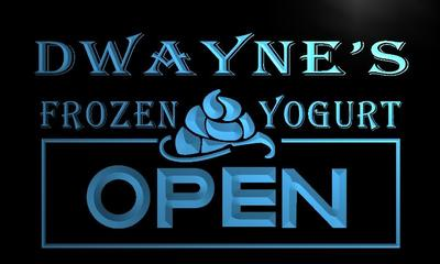 x0255-tm Dwaynes Frozen Yogurt Open Custom Personalized Name Neon Sign Wholesale Dropshipping On/Off Switch 7 Colors DHL