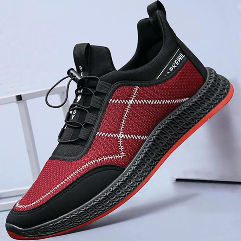 21c8ebec 2019 мужские кроссовки на шнуровке, мужская повседневная обувь, модные  кроссовки, Мужская дышащая обувь для прогулок, мужская обувь без шнуро.