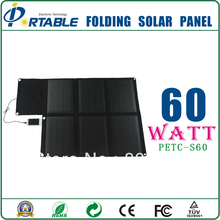 60 watt solar poower charger for car battery and laptop