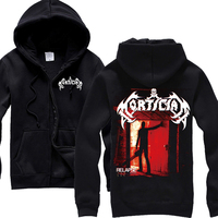 Free Shipping MORTICIAN Chainsaw Death Metal Mens Black Hoodie