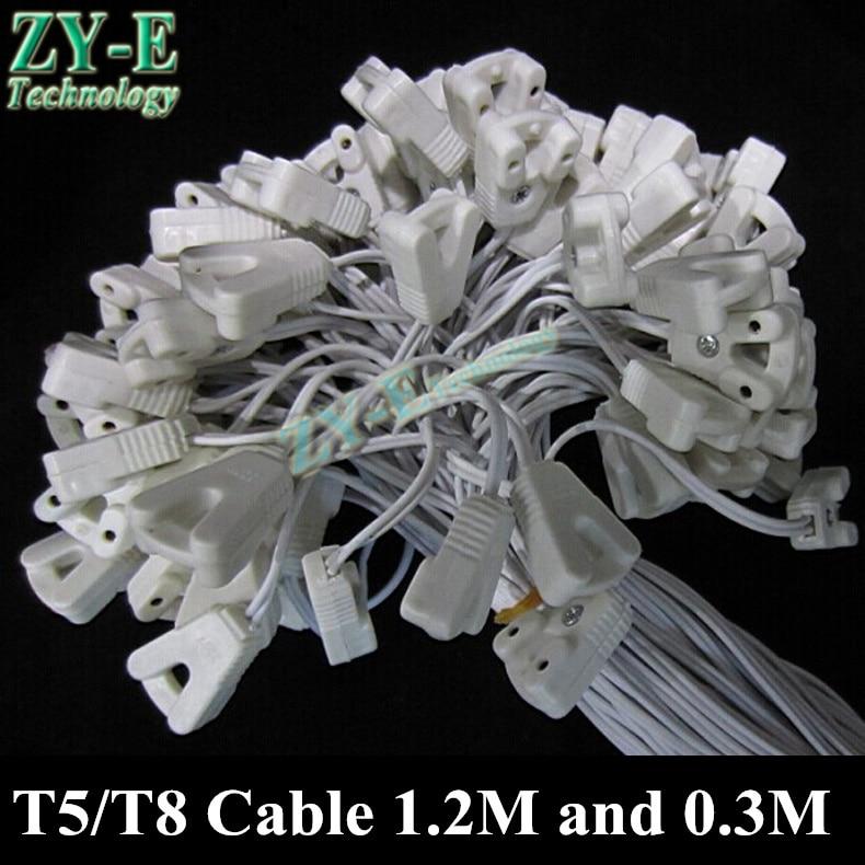 10 stkspartij t5t8 kabels licht doos draad fluorescerende lamp lijn led verlichting buis kit lampvoet kabel fitting accessoires connector