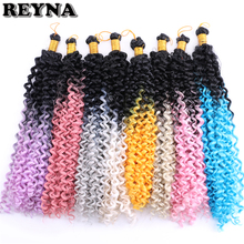 REYNA 300 г/лот Омбре плетение волос Кудрявые вьющиеся синтетические вязанные волосы оплетка для черных женщин