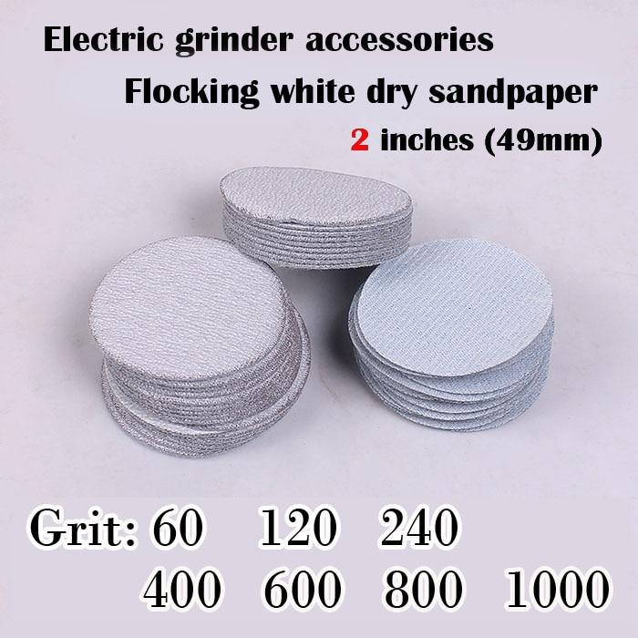 30 db / tétel Száraz csiszolás Fehér csiszolópapír, 2 hüvelyk - Csiszolószerszámok - Fénykép 3