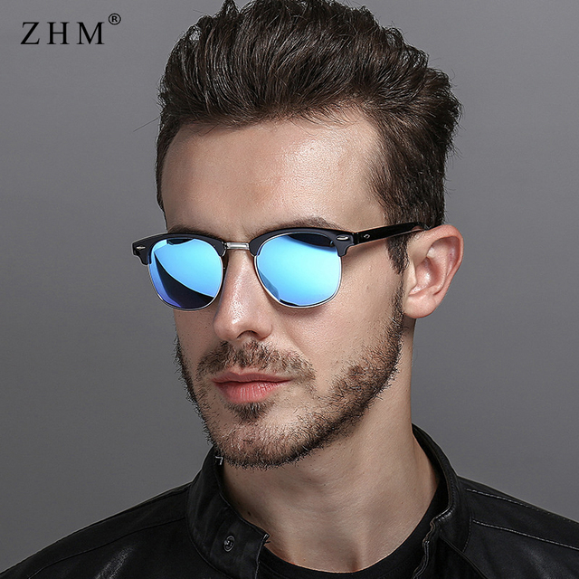 2018 new polarized sunglasses men driving sunglasses classic retro half frame fashion sun glasses men High Quality glasses UV400