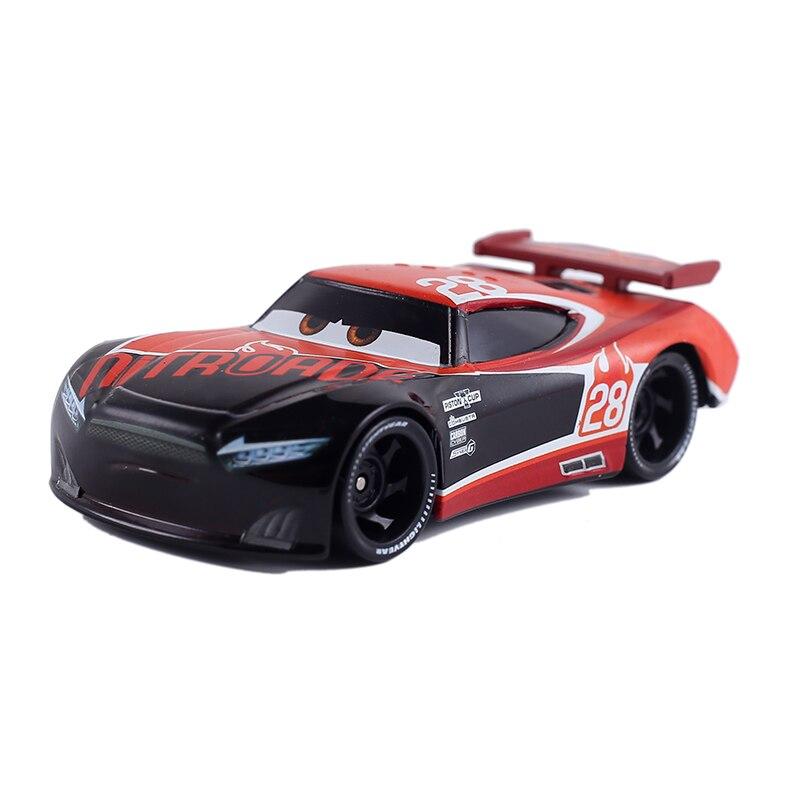 New Disney Pixar Car 3 Lightning McQueen Jack Storm No. 28 1:55 Die Cast Metal Alloy Model Toy Car 2Boys Birthday Christmas Gift