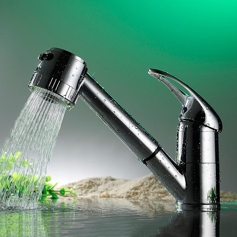 Beautiful Design Pull Out Single Lever Spray Basin Monobloc Kitchen Sink Basins Mixer Tap Faucet Torneira