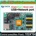 HD-E62 СВЕТОДИОДНЫЙ дисплей контроллера, одного и двойной цвет P6 P10 знак СИД платы Управления, полноцветный модуль Поддержка семь цветов