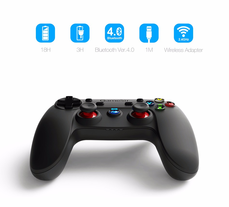 GameSir G3s Gamepad for PS3 Controller Bluetooth&2.4GHz snes nes N64 Joystick PC for Samsung Gear VR Box for SONY Playstation 2 3