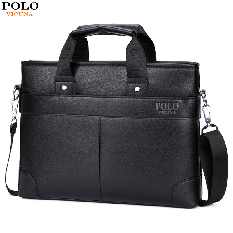 17e0098ed3 VICUNA POLO Promotional Mens Briefcase Casual Business Men s Shoulder Bag  Large Size Computer Laptop Handbag Business Man Bag