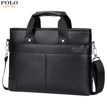 VICUNA POLO Promotional Mens Briefcase Casual Business Mens Shoulder Bag Large Size