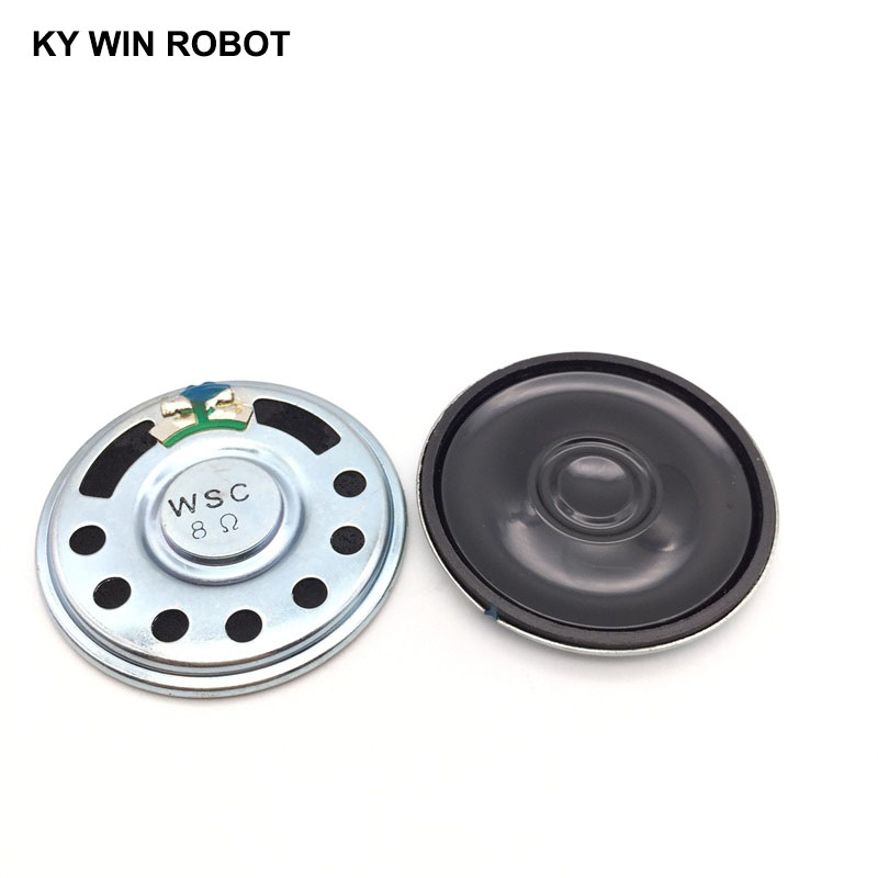 2pcs/lot New Ultra-thin Speaker 8 Ohms 2 Watt 2W 8R Speaker Diameter 50MM 5CM Thickness 8MM