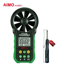 Aimometer ms6252b цифровой анемометр т & rh датчик воздуха скорость ветра скорость метр интерфейс usb