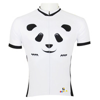 CYCLISME MAILLOTS Mignon de Bande Dessinée Panda Hommes top Cyclisme Manches Jersey Blanc Respirant Vélo Vêtements nouveauhot Vélo Clothing ILPALADIN