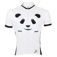 Pullover di riciclaggio cute cartoon panda uomini top ciclismo manica jersey bianco traspirante abbigliamento moto nuovopiù cycling clothing ilpaladin