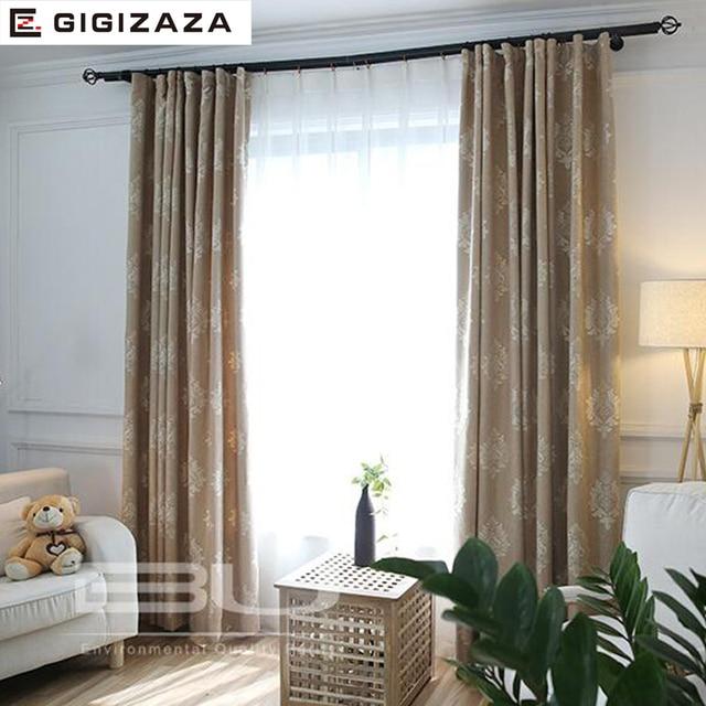 Paisley Jacquard Ctton Stores Tissu Rideau Pour Salon Gris Rose GIGIZAZA  Noir Out Custom Taille Américain