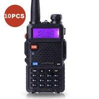 10 Pcs Lot BAOFENG UV 5R Walkie Talkie VHF 136 174MHz UHF 400 520MHz UV5R Dual