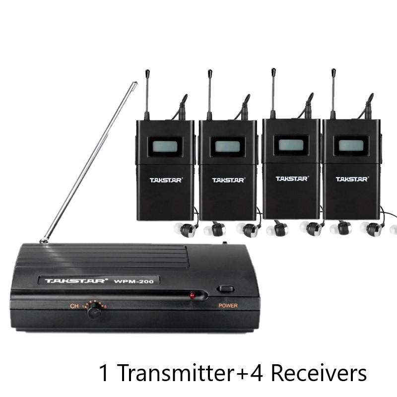 Takstar wpm 200 wpm200 UHF Wireless Monitor System In Ear Stereo Wireless Headset Stage monitors 1