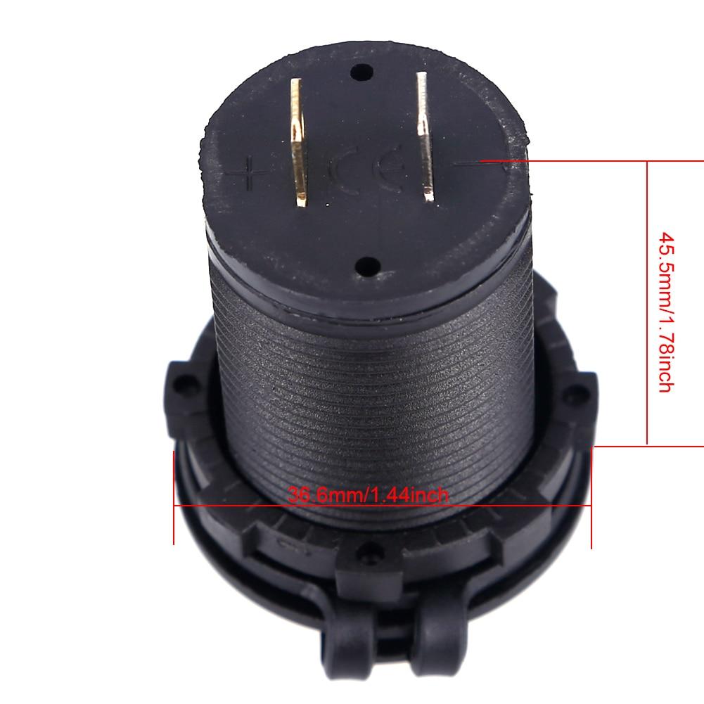 1 PC Universal Charger Mobil Tahan Air Dual Port Auto Adapter 5 V - Aksesori dan suku cadang ponsel - Foto 2