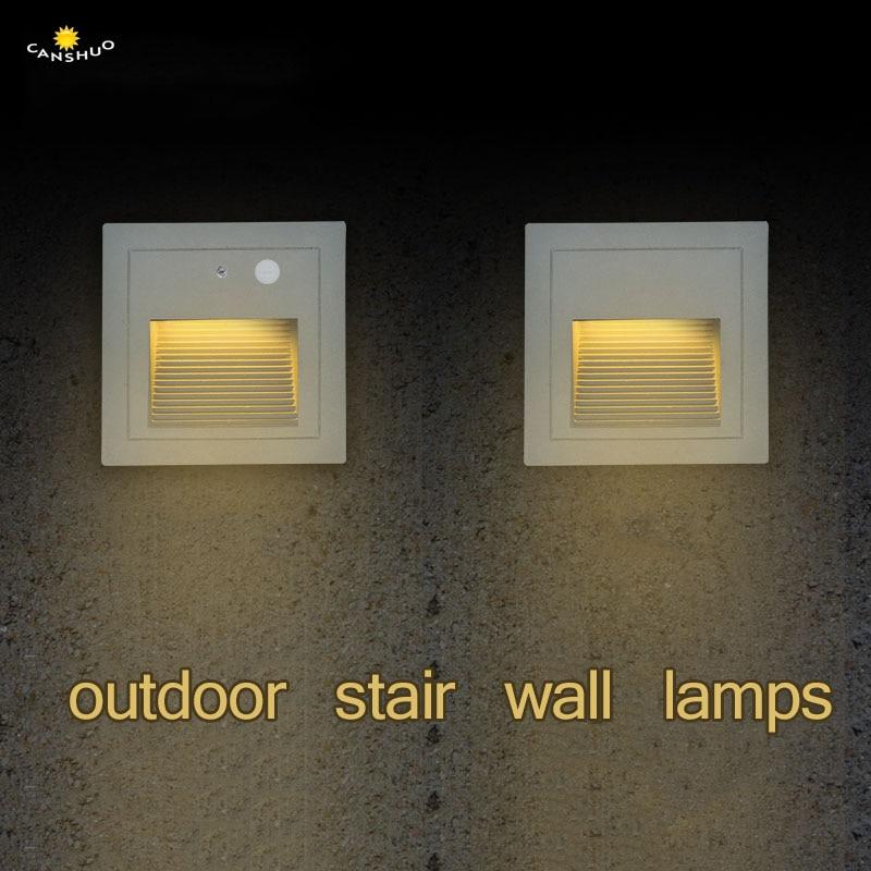Diszipliniert Led Wand Lampe Pir Motion Sensor Detektor Licht Wasserdichte Outdoor Footlight Led Treppen Schritt Ecke Licht Scheinwerfer Veranda Licht Kaufen Sie Immer Gut Led-lampen Led Outdoor-wandlampe