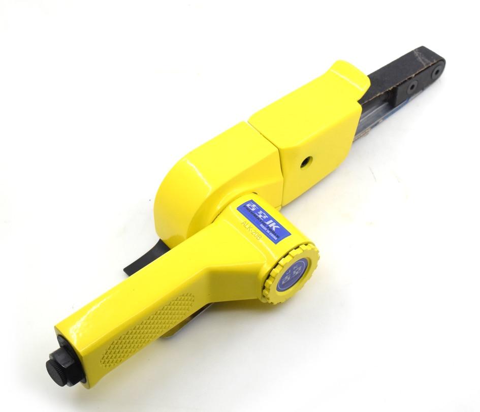 Pneumatique outils ceinture polisseuse machine 20mm * 520mm Air ceintures ponceuse 3/4 pouces 20mm fer métallurgiques en acier hub ponceuses polisseuses