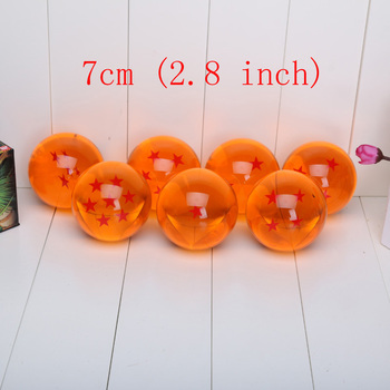 Dragon ball Z stella sfera di cristallo 1 pezzo Grande Formato DIN: 7 CM pacchetto di vendita al dettaglio può scegliere stelle