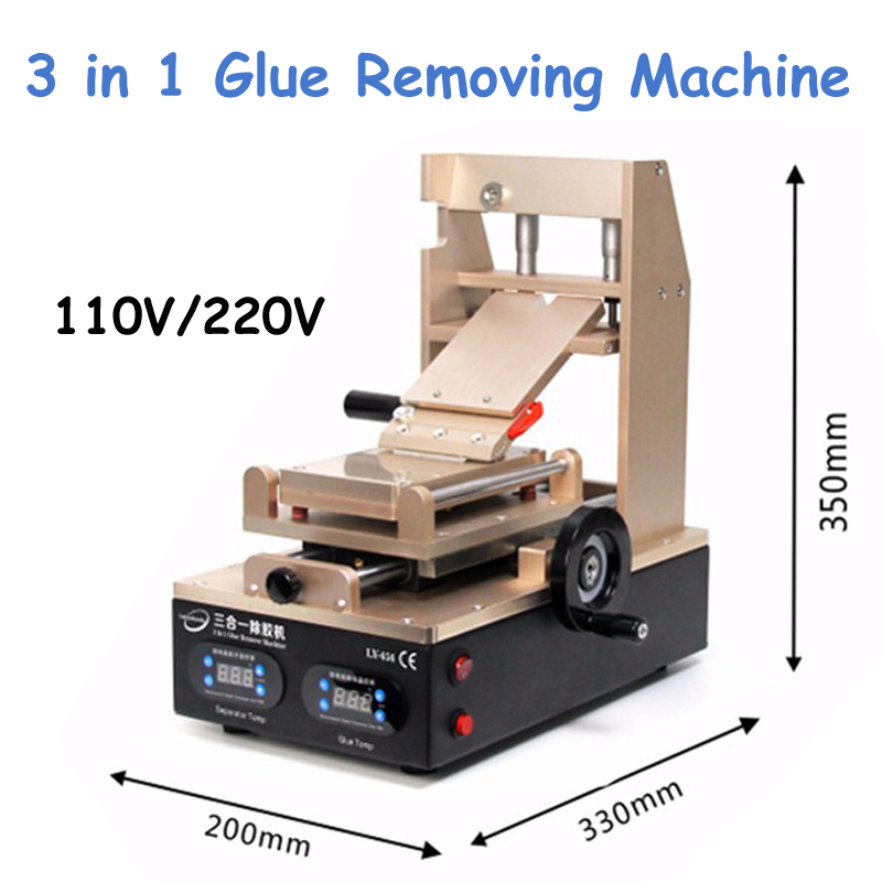 1pc 110V/220V 3 in 1 Vacuum LCD Screen Separator/ Preheater/ OCA Glue Polarizer Remove Cell Phone Screen Refurbish Machine 3 in 1 multifunction preheater station middle bezel frame separator machine vacuum screen separator machine