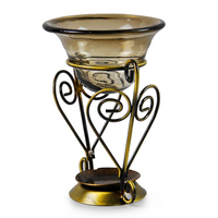 Free Shipping Fashion Vintage Aromatherapy Oil Furnace Vaporizer Bronze Candle Fragrance Lamp