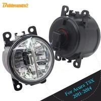 Buildreamen2 2 Pieces Car 4000LM Front LED Lamp Fog Light Daytime Running Lamp DRL White 12V For Acura TSX 2011 2012 2013 2014