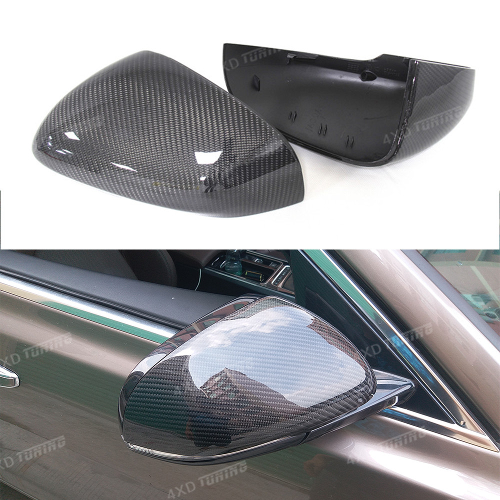 For Jaguar XK XF XJ XKR Mirror Cover Carbon Fiber Rear Side View Mirror Cover Add On Style & Replacement style 2011 2012 2013-UP for volvo xc60 2009 2010 2011 2012 2013 add on style carbon fiber rear view mirror cover