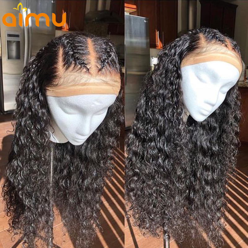 Wet and Wavy Human Hair Wigs For Black Women With Baby Hair Preplucked Brazilian Curly Lace