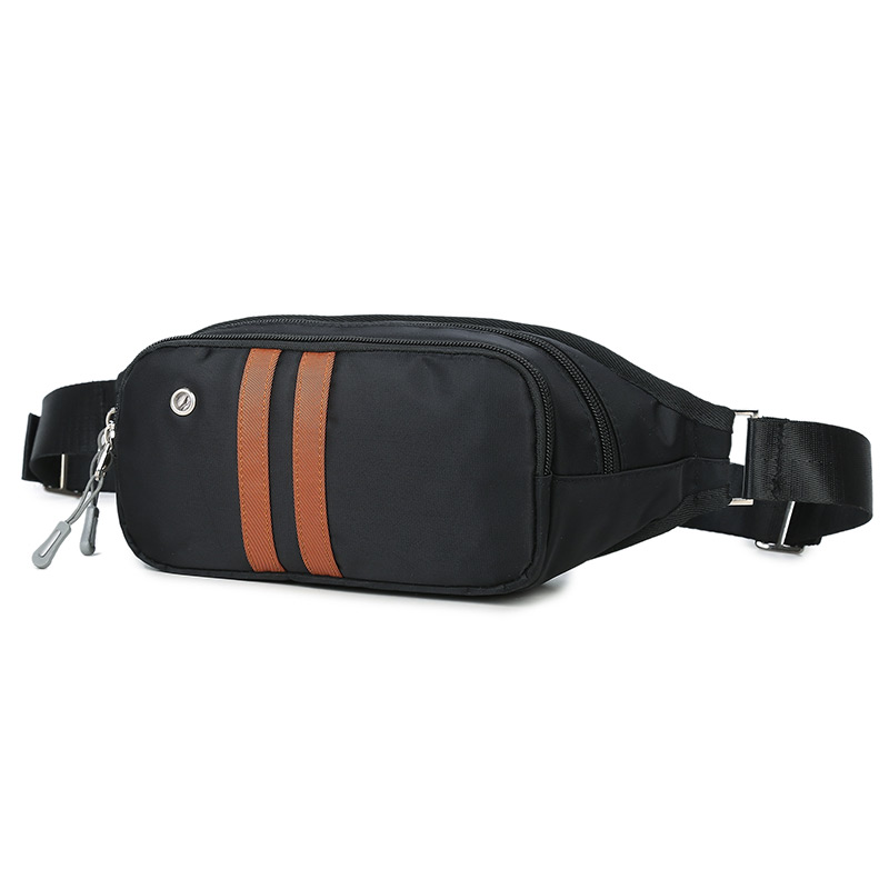 2018 नए पुरुषों की कमर पैक धारीदार क्रॉस बॉडी कमर बैग कैजुअल क्रॉसबॉडी मैसेंजर बैग वॉटरप्रूफ नायलॉन सेल फोन बैग