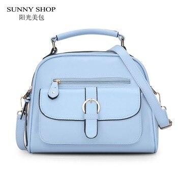 SUNNY SHOP 2017 Spring Summer Women Messenger Bag Cute Girls Shoulder Bags Candy Color Handbags With Bear Toy bag