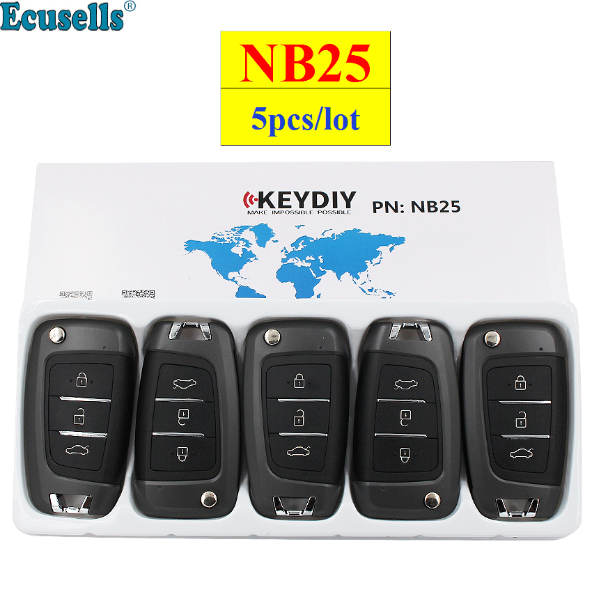 5pcs/lot KEYDIY 3 Button Multi-functional Remote Control NB25 NB Series Universal for KD900 URG200 KD-X2 all functions in one