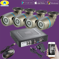 Golden Security 2000TVL 4CH DVR Waterproof CCTV Surveillance Security System 720P AHD Camera Kit IR Cut