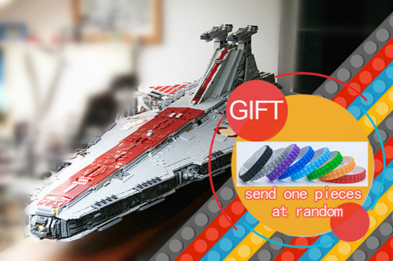 05077 6125Pcs Star Classic Series Wars The Ucs ST04 Republic Cruiser war Set Educational Building Blocks toys lepin lepin 05077 stars series war the ucs rupblic set star destroyer model cruiser st04 diy building kits blocks bricks children toys
