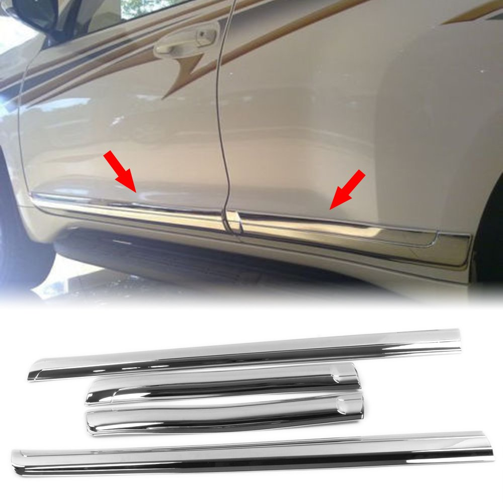4PC ABS LCM CHROME BODY SIDE MOLDINGS FITS 2014-2018 BUICK ENVISION