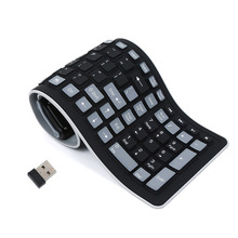 цена на Portable USB Silicone Keyboard For Laptop PC Flexible Waterproof Foldable Keyboard Wireless Soft Keys Mini Cover Notebook