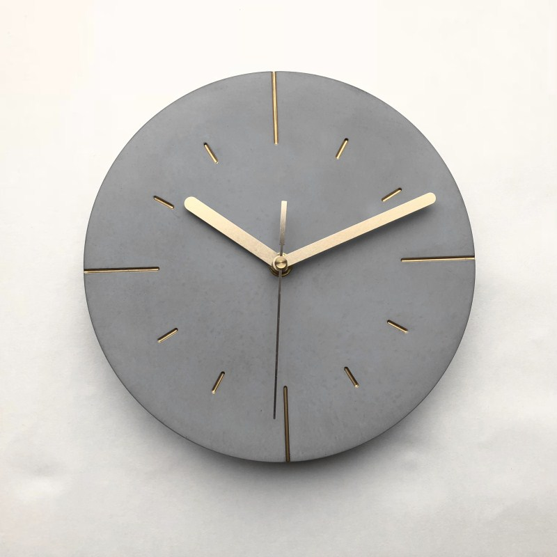 Round Concrete Wall Clock Moulds New design cement craft mold