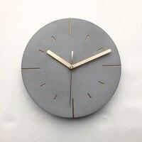 Horloge murale en béton ronde horloge en silicone nouveau design moule d'artisanat en ciment conception ronde de horloge en ciment horloge murale moule en silicone