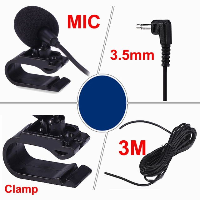Rhythm 3.5mm Jack Plug Mic Stereo Mini Wired External Microphone Professionals Car Audio Microphone  for Auto DVD Radio 3m Long