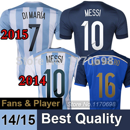 Fans&Player Version Argentina world cup 2014 Messi Di Maria jersey Home Away soccer camisa argentina Shirt - Dongchuan store