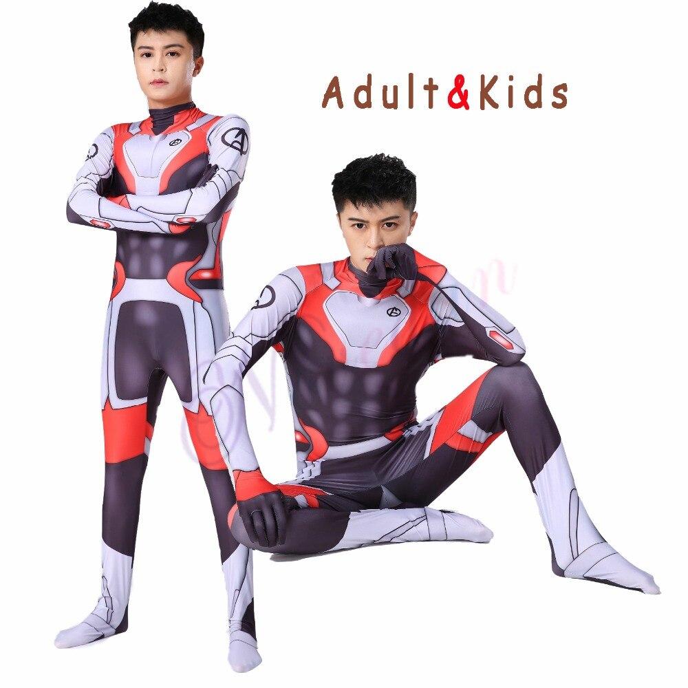 Marvel avengers endgame quantum realm tecnologia avançada cosplay trajes 2019 novo super-herói homem de ferro macacão terno zentai