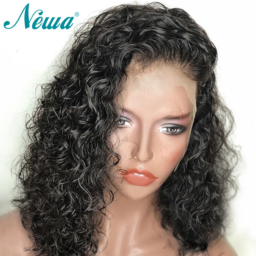Pre Plucked 360 Lace Frontal Wig With Baby Hair Short Curly Brazilian Remy Hair Lace Front