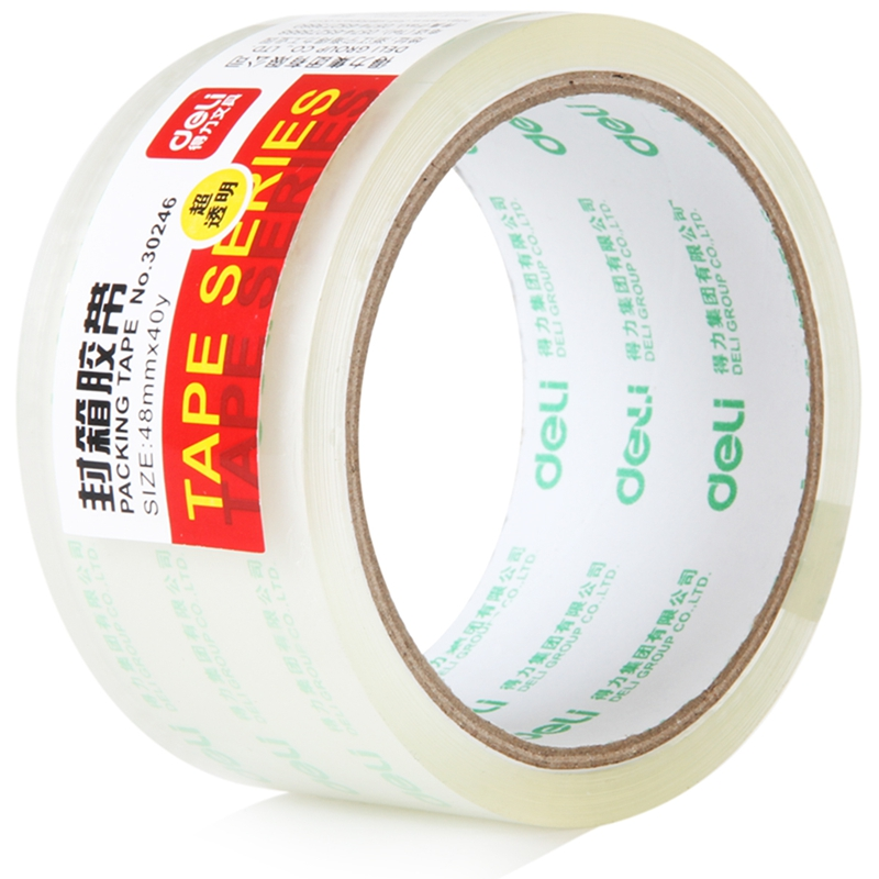 48mm X 40y Super Transparent Packing Adhesive Tape Strong Glue Sealing Box Tape Carton Tapes Home Office Supplies Deli 30246