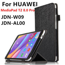 Case For Huawei MediaPad T2 8 Pro Smart cover Faux Leather Protector Case For HUAWEI Honor Tablet 2 JDN-W09 JDN-AL00 Protective